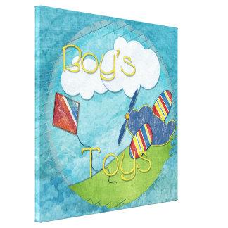 Impressão Em Canvas Meios mistos dos brinquedos dos meninos