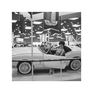 Impressão Em Canvas Modelo 1963 da mulher da feira automóvel de