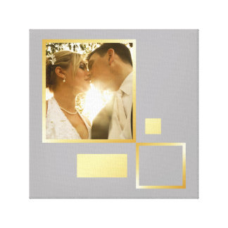 Impressão Em Canvas modelo feito sob encomenda da foto do casamento,