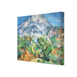Impressão Em Canvas Mont Sainte Victoire acima de Tholonet, Paul