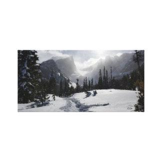 Impressão Em Canvas Montanha rochosa alta