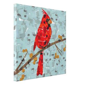 Impressão Em Canvas Mosaico cardinal vermelho