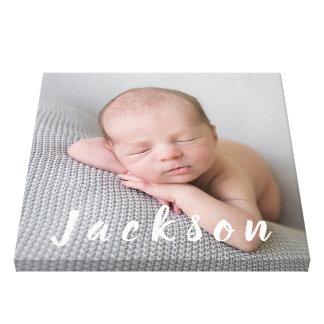 Impressão Em Canvas Nome personalizado do bebé fotografia