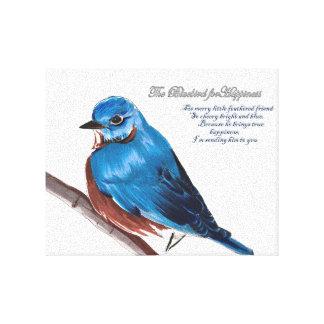 Impressão Em Canvas O Bluebird para a felicidade
