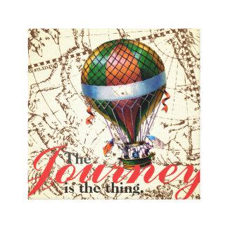 Impressão Em Canvas O fundo do zodíaco do balão de ar quente da viagem
