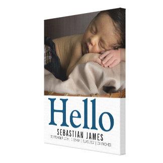 Impressão Em Canvas Olá! bebé novo lembrança personalizada