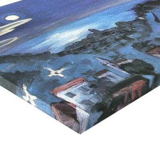 Impressão Em Canvas Opinião de Barcelona da cidade na noite por Walter