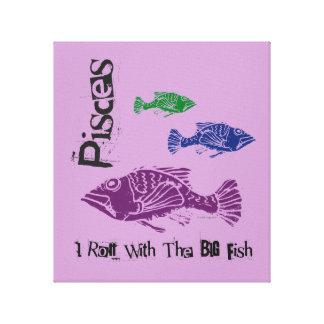 Impressão Em Canvas Os peixes grandes dos peixes envolveram o