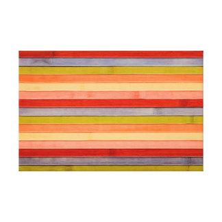Impressão Em Canvas Painel de madeira pintado da praia do arco-íris
