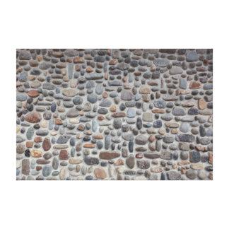 Impressão Em Canvas Parede de pedra do seixo do mosaico