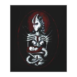 Impressão Em Canvas Pintura estrangeira da mãe - arte escura da