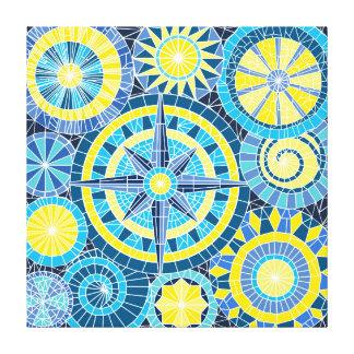 Impressão Em Canvas Pinwheel do mosaico