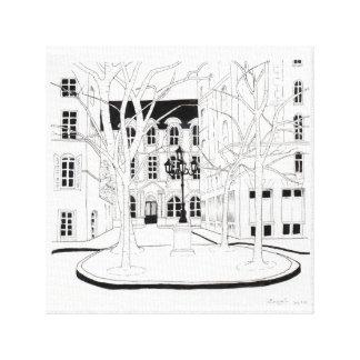 Impressão Em Canvas Place de Furstenberg, Paris
