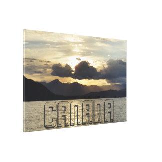 Impressão Em Canvas Por do sol canadense