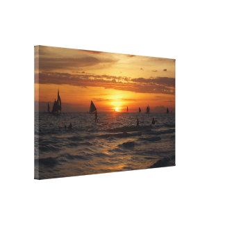 Impressão Em Canvas Por do sol de Boracay