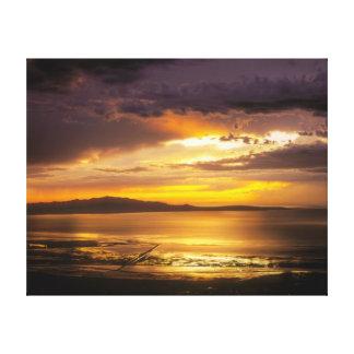 Impressão Em Canvas Por do sol de Great Salt Lake