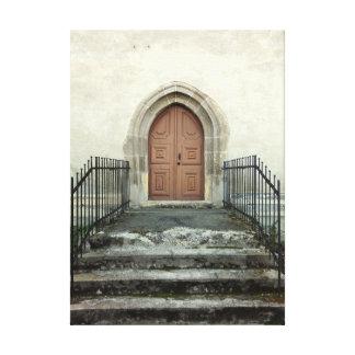 Impressão Em Canvas Porta da igreja do vintage