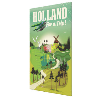 Impressão Em Canvas Poster de viagens do estilo do vintage de Holland