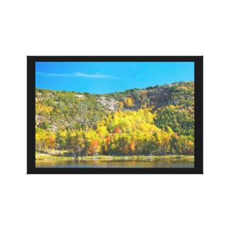 Impressão Em Canvas Queda no parque nacional Maine do Acadia da lagoa