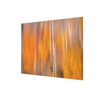 Impressão Em Canvas Reflexões do outono na lagoa | Winthrop do castor,