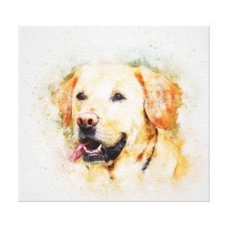 Impressão Em Canvas Retrato clássico da arte do cão de labrador
