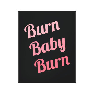 Impressão Em Canvas Rosa inspirador do preto do bebê da queimadura da