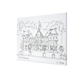 Impressão Em Canvas Rua de Vaugirard do palácio | de Luxembourg, Paris