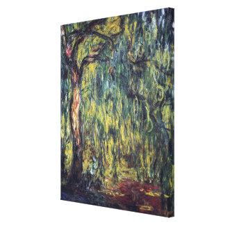 Impressão Em Canvas Salgueiro Weeping por Claude Monet, belas artes do