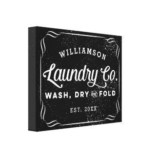 Impressão Em Canvas Sinal seco personalizado da dobra da lavagem preta