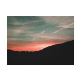 Impressão Em Canvas Sunup no pico do leste
