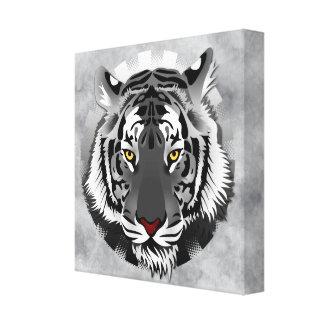 Impressão Em Canvas Tigre preto e branco