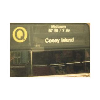 Impressão Em Canvas Trem a Coney Island