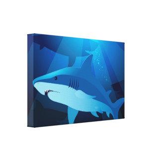 Impressão Em Canvas Tubarões que nadam