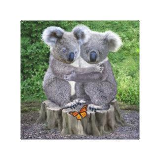 Impressão Em Canvas Urso de Koala Huggies do bebê