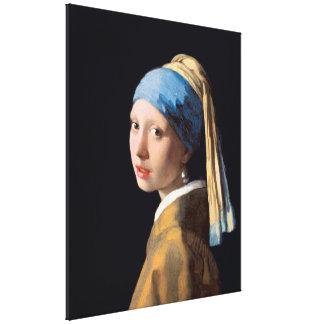 Impressão Em Canvas VERMEER - Menina com um brinco 1665 da pérola
