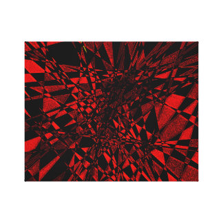 Impressão Em Canvas Vermelho & preto