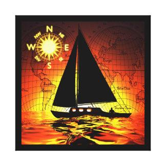 Impressão Em Canvas Viagem do por do sol