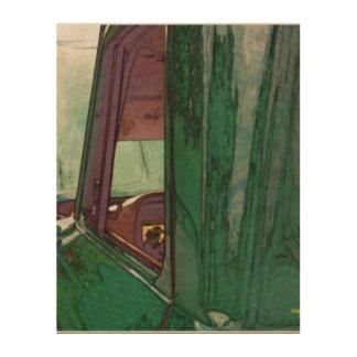 Impressão Em Madeira Caminhão clássico como a arte de madeira da parede