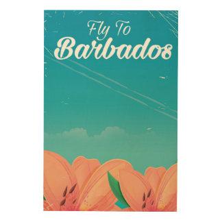 Impressão Em Madeira Mosca ao poster de viagens do clássico de Barbados
