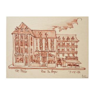 Impressão Em Madeira St. Malo de Armoricaine | da cervejaria do hotel,