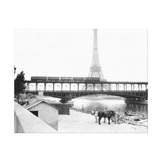 Impressão Em Tela 1800s de Paris France da foto da torre Eiffel do