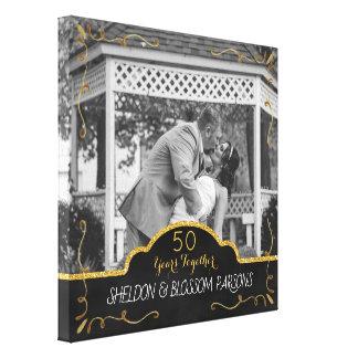Impressão Em Tela 50th Lembrança da foto do casal do aniversário de