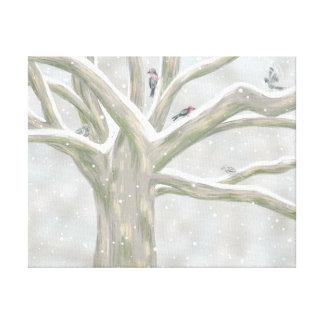Impressão Em Tela A árvore do pássaro