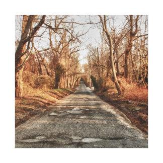 Impressão Em Tela A estrada do outono