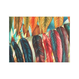 Impressão Em Tela a folha do outono colore a arte moderna estilizado