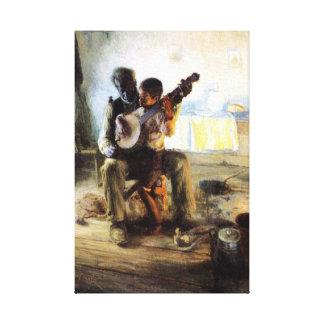 Impressão Em Tela A lição do banjo