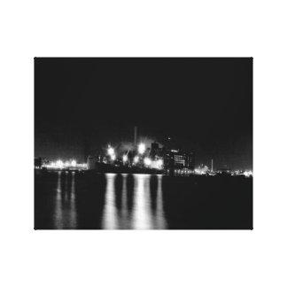Impressão Em Tela Abate a arquitectura da cidade preto e branco do