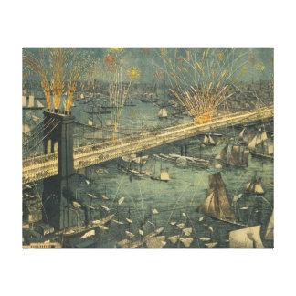 Impressão Em Tela Abertura histórica da ponte de New York Brooklyn