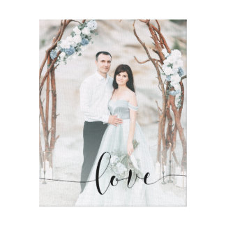 Impressão Em Tela Amor delicado | suas foto e folha de prova da