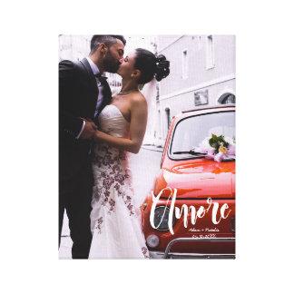 Impressão Em Tela Amore, roteiro moderno • Foto feita sob encomenda,